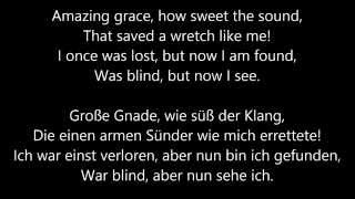 John Newton - Amazing Grace - Free Download - Lyrics English/German