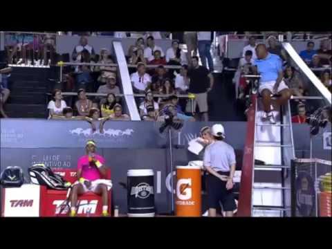 Rafael Nadal vs Umpire Carlos Bernardes