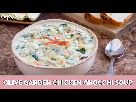 Olive Garden Chicken Gnocchi Soup Youtube