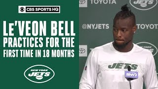 Le'Veon Bell practices for the FIRST TIME in 18 months | Jets OTAs | CBS Sports HQ