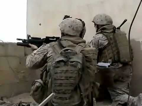U.S. Marines Battle Enemy Forces In Ramadi, Iraq