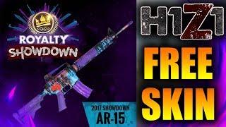 GET A FREE ROYALTY SHOWDOWN AR-15 SKIN TODAY! (H1Z1 2017 Royalty Showdown)