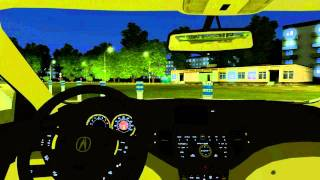 3D Инструктор 2.2.6 (City Car Driving) -  мод Acura TSX (honda accord)