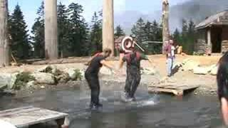 Lumberjack Show - Log Rolling Competition