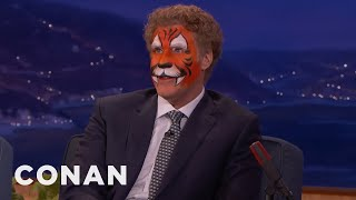 Will Ferrell Just Came From A Kid's Birthday Party  - CONAN on TBS
