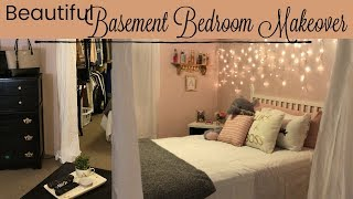 BASEMENT BEDROOM MAKEOVER // $75