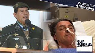 General Mourão faz discurso impactante ao comentar 'pós-atentado' a Bolsonaro: 'Continua no co..