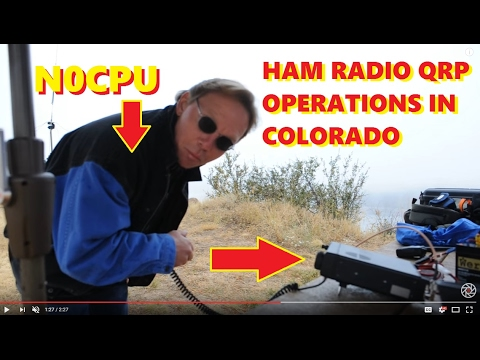 n0cpu qrp from horsetooth reservoir with icom 703 ham radio