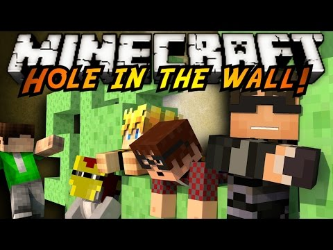 Minecraft Mini-Game : SUPER HOLE IN THE WALL!