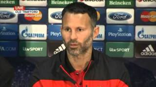 David Moyes & Ryan Giggs pre match press conference   Man Utd vs Bayern Munich 2014