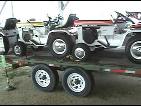Trailer Full Of John Deere Patio Series Lawn Tractors