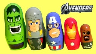 The Avengers Stacking Cups Surprise Baby Toys Disney Captain America, Hulk, Iron Man Marvel Nesting