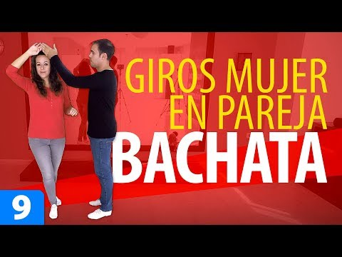 WOMAN'S TURNS IN COUPLE 👩 Learn to Dance Bachata - Bachata for Beginners #9