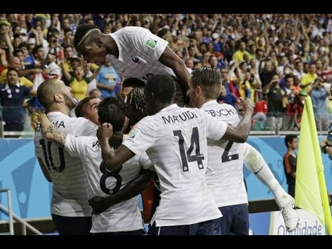 France 2-0 Nigeria World Cup 2014 - Goals HD 30.6.2014