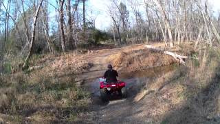 Honda Rancher 420 and Honda Recon 250 creekin 12-2-12