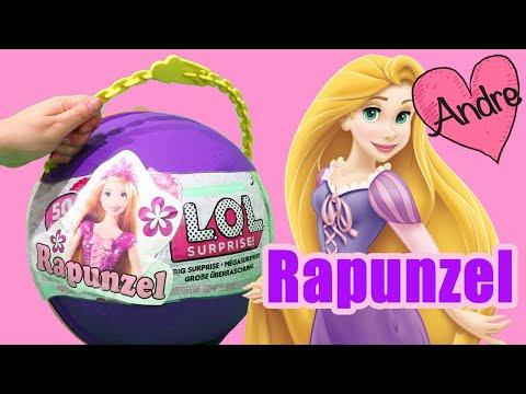 LOL Big Surprise DIY de Rapunzel | Muñecas y juguetes con Andre para niñas y niños