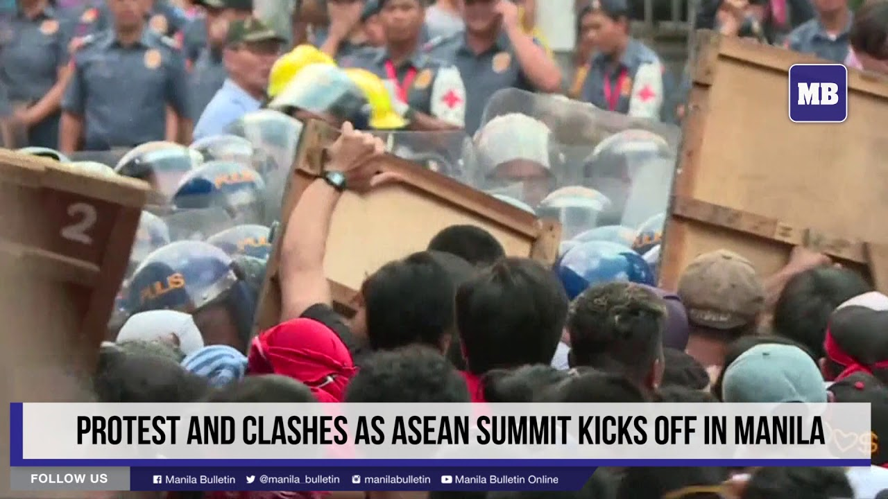 Protest and clashes as ASEAN summit kicks off in Manila