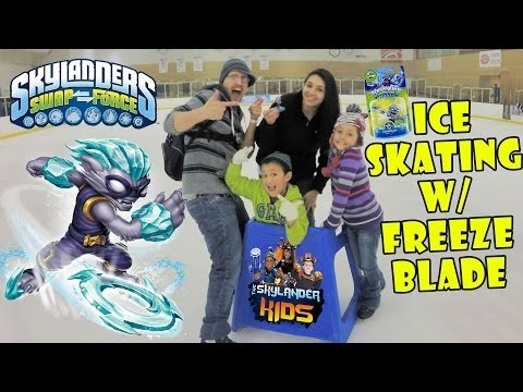 Ice Skating w/ Freeze Blade Surprise! + Epic Unboxing (Skylanders Swap Force Wave 4)