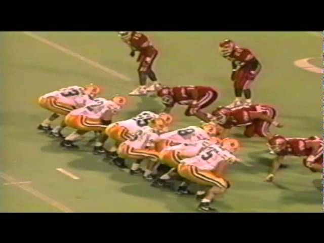 Oregon WR Anthony Jones 27 yard touchdown catch vs. Utah 9-21-1991