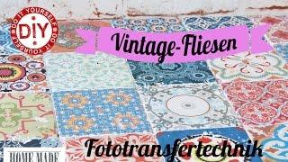 How To I Vintage Fliesen Selber Machen   Variante 1 I Deko Inspirationen  Selbstgemacht ...