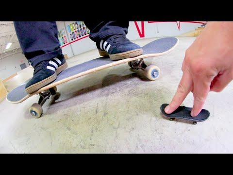 Fingerboard Vs Real Skateboard / Game of S.K.A.T.E.!