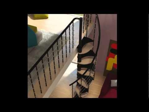 Scala a chiocciola per piccoli spazi Rintal - Trio 180°