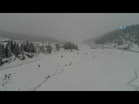 Donan Gölet Havadan Görüntülendi