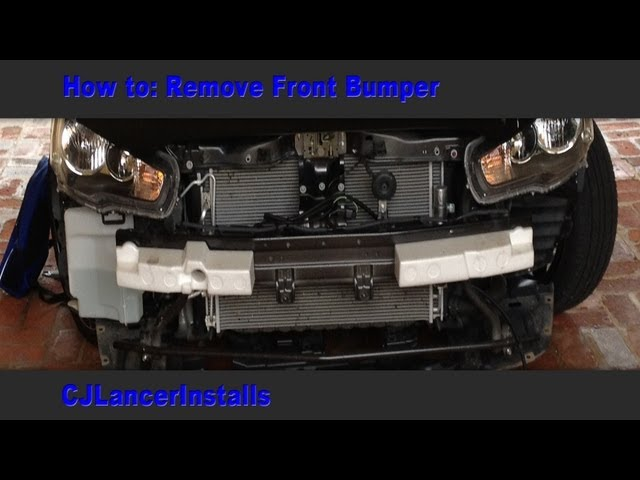 CJ Lancer - How To: Remove Front Bumper - YouTube