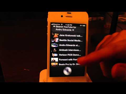 Siri Hacks with iPhone 4S Jailbreak Music Videos