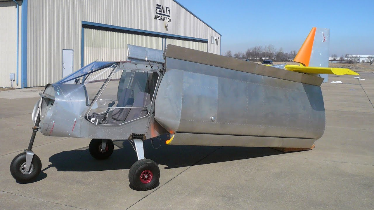 stol kit plane ~ folding wings option for storage and trailering zenith