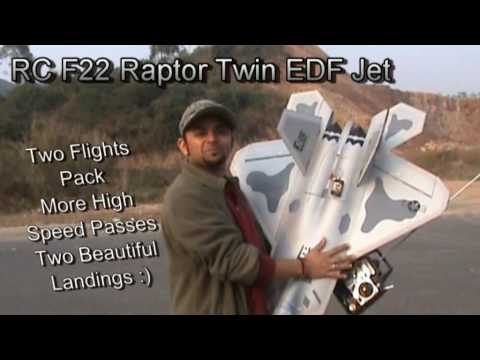 RC F22 Raptor EDF Awesome Twin Flight Pack