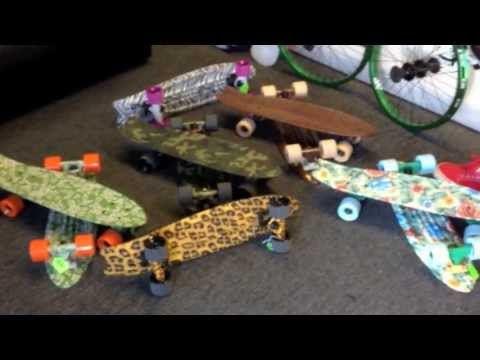 PENNY BOARDS AND COMPETING COMPANIES : MAYHEM GLOBE ETC (plastic skateboards)