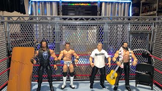 WWE Tag Team Cage Match - Roman Reigns and The Miz vs Shane McMahon and Elias