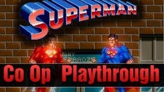 Superman Arcade Co op Longplay Full Playthrough Retro Classic 2 Players