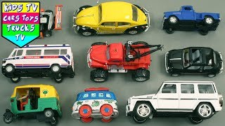 City Service Vehicles For Kids Children Babies Toddlers | Bus Car Auto Van Jeep #Kids #learning