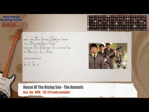 House Of The Rising Sun - The Animals Guitar Backing Track with ...