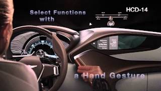 Hyundai HCD-14 Genesis Concept Interior Demo - Eye tracking and 3D hand gesture recognitio...