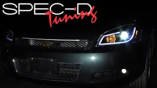 SPECDTUNING INSTALLATION VIDEO: 2006 - 2013 CHEVY IMPALA PROJECTOR HEADLIGHTS
