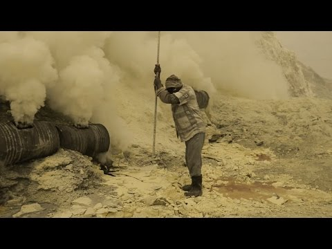 Ijen - Sulphur Mining in Indonesia