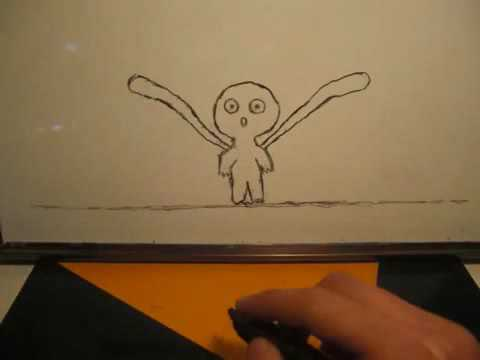 Прикол Смотреть Рисует супер! Мультик на бумаге! The Baby Monster`s Story new 2014 yoffy.ru