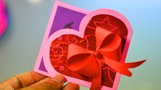 BEAUTIFUL HANDMADE VALENTINES'S DAY CARD || DIY GREETING CARDS FOR VALENTINES'S DAY|| TRICKY LIFE