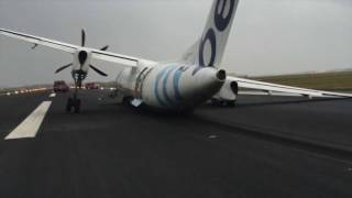 Flybe plane crash lands at Amsterdam's Schiphol airport