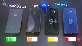 ULTIMATE Battery Charge Test | OnePlus 6T vs iPhone Xs Max vs Note 9 vs S9 Plus