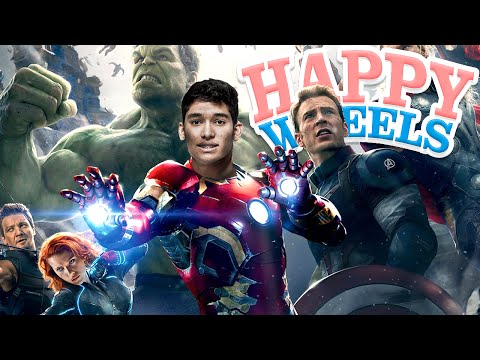 ENTREI PARA OS VINGADORES !!  - HAPPY WHEELS