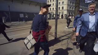 Contax II Zeiss Ikon shoot in Zürich, Switzerland candid POV street photography GoPro, Sony A7
