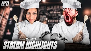IRL COOKING WITH STEPH and FIFA RAGE MONTAGE - Nick28T Stream Highlights #11 2019