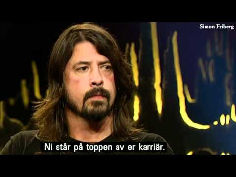 Dave Grohl at Skavlan, Sweden (Including Foo Fighters playing