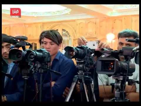 نشست خبرى عطا محمد نور والى بلخ و رييس اجراييه جمعيت اسلامى افغانستان با امير اسماعيل خان در هرات