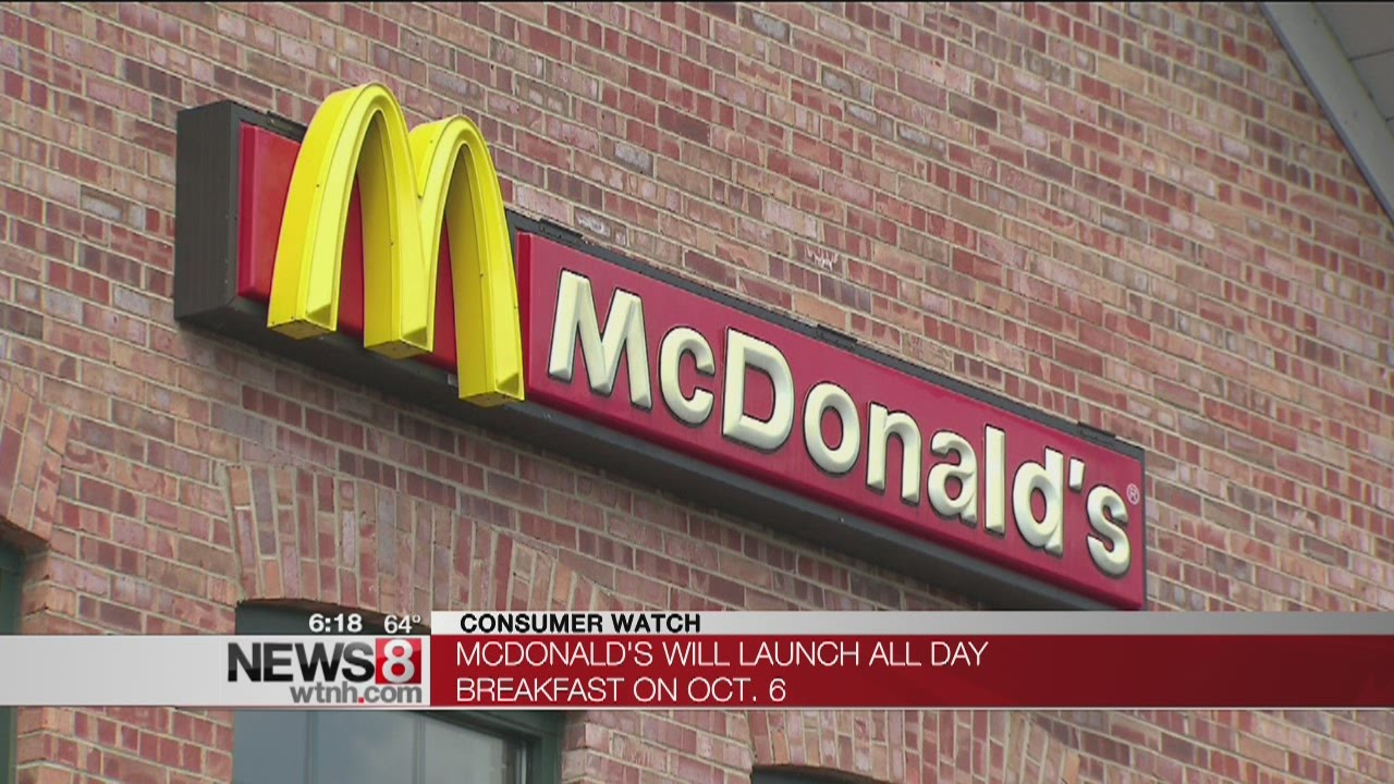 McDonald's will launch all day breakfast on Oct. 6