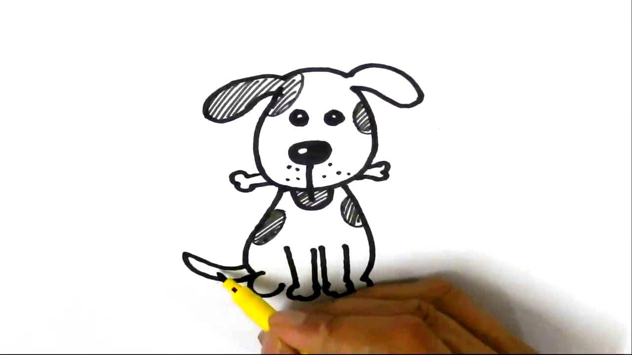 Cute dog cartoon drawing